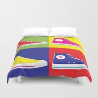 converse Duvet Covers featuring Converse Pop Art by tantoonie
