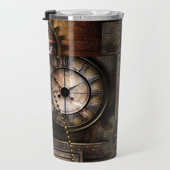 Steampunk, wonderful clockwork with gears Travel Mug