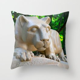 Penn State Nittany Lion Statue Print Throw Pillow