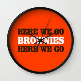 Here We go Brownies Cleveland Wall Clock