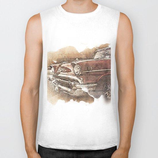 Retro Car Biker Tank