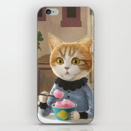 Yummy ice cream and a Cat iPhone Skin
