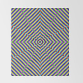 Dizzy Geometry Throw Blanket