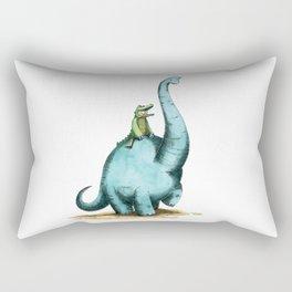 Brachiosaur Rides (Norm the Alligator) Rectangular Pillow