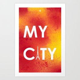 MyCity-Paris-RedYellowA Art Print