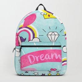 Dream Big Unicorn Carousel Backpack