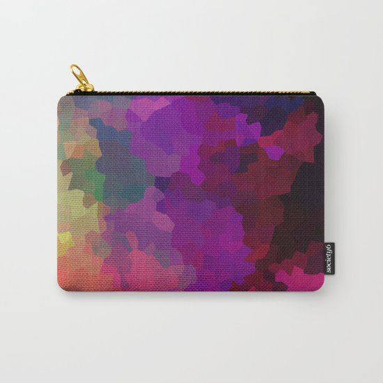 Multicolored abstract pattern . A firework of colors . Carry-All Pouch