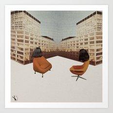 La conversation Art Print