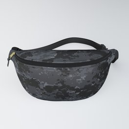 Pixelated Dark Grey Camouflage Fanny Pack