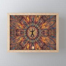 Falling Man Colorful Multicolor Geometry Kaleidoscope Pattern Framed Mini Art Print