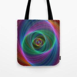Psychedelic Spiral Stripes Tote Bag