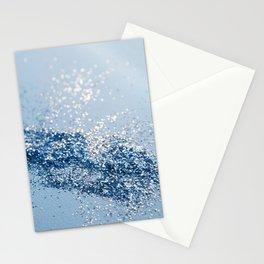 Sparkling Classic Blue Ocean Lady Glitter #1 (Faux Glitter) #shiny #decor #art #society6 Stationery Cards