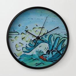 Summer Surfer Wall Clock