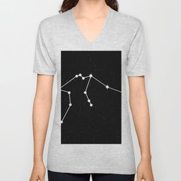 AQUARIUS (BLACK & WHITE) Unisex V-Neck