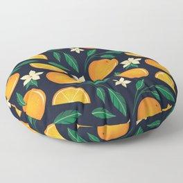 Orange Blossom Pattern Floor Pillow