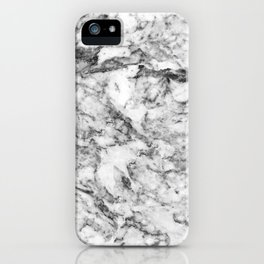 Elegant gray white modern marble texture patterns iPhone Case