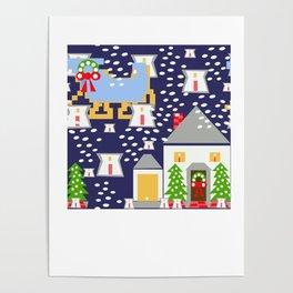 Sleighride Thru Luminaries by Lorloves Design Poster