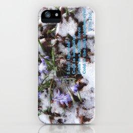 WINTER FLOWERS & Wim Hof quote  iPhone Case