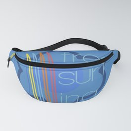 Free surfing blue Fanny Pack
