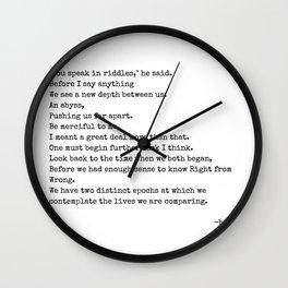 riddles Wall Clock