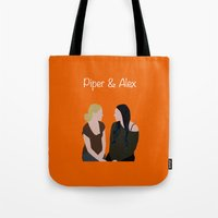 oitnb Tote Bags featuring Piper & Alex OITNB by Vauseman Addict