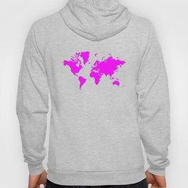 World with no Borders - magenta Hoody