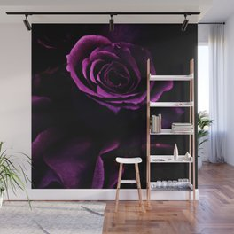 Vibrant Purple Rose Wall Mural