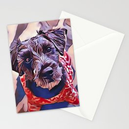 The Schnoodle - A Schnauzer Poodle Mix Breed Stationery Cards