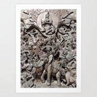 Thai Crowd Art Print