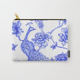 Chinoiserie Peacock Carry-All Pouch