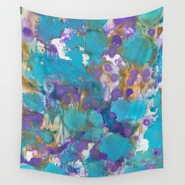 Blue Blossom Wall Tapestry