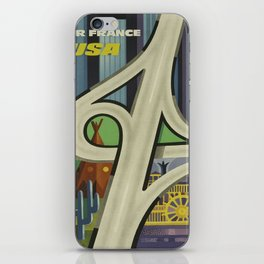 Vintage poster - USA iPhone Skin
