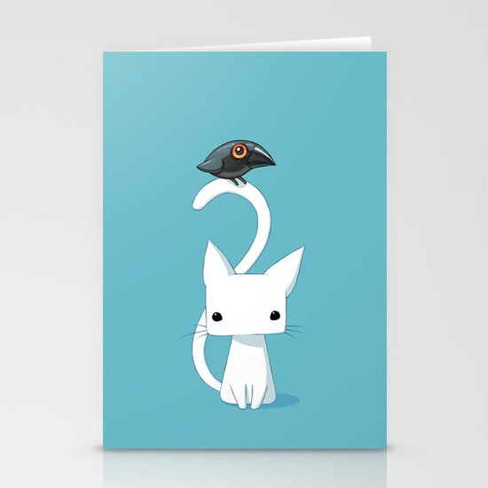 Cat and Raven Stationery Cards