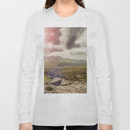 Ireland Mountain Landscape Panorama Long Sleeve T-shirt