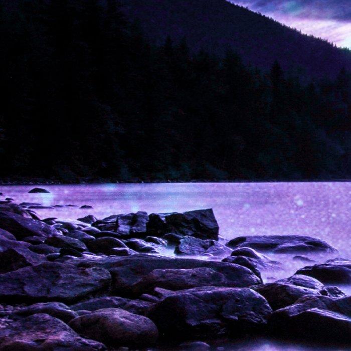 Magical Mountain Lake Purple Leggings