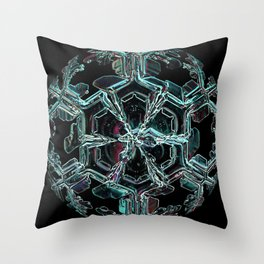 Caribbean in the Snow Throw Pillow