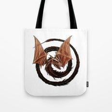 Spiral Dragon over Poenari Castle Tote Bag