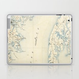Vintage Annapolis MD & Chesapeake Bay Map (1902) Laptop & iPad Skin