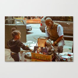Compassion in the City Canvas Print