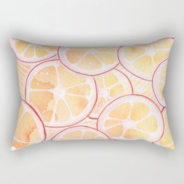 Tangerine Ring Party! Rectangular Pillow
