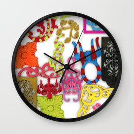 Filigree Collage Wall Clock