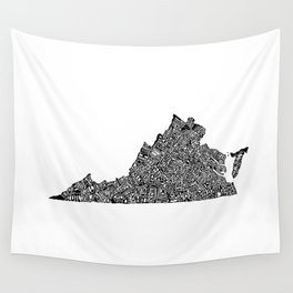 Typographic Virginia Wall Tapestry