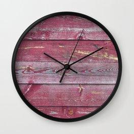 Pink Barn Wood Wall Clock
