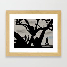 15- Cloudy day in marine drive, Kochi Framed Art Print
