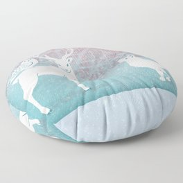 Winter In The White Woods Floor Pillow