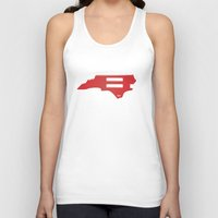 north carolina Tank Tops featuring North Carolina Love by Tank Top Sunday