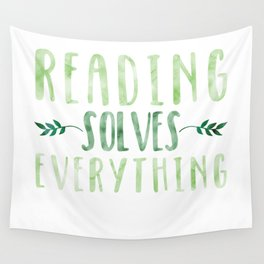 Reading Solves Everything (Green) Wall Tapestry