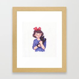 Kiki and Jiji Framed Art Print