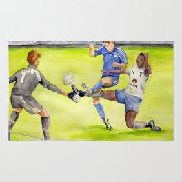 Ledley King tackles Robben Rug