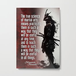 Samurai True Science of martial arts Metal Print